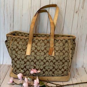 Coach Signature Tote/Diaper Bag/Handbag/Laptop